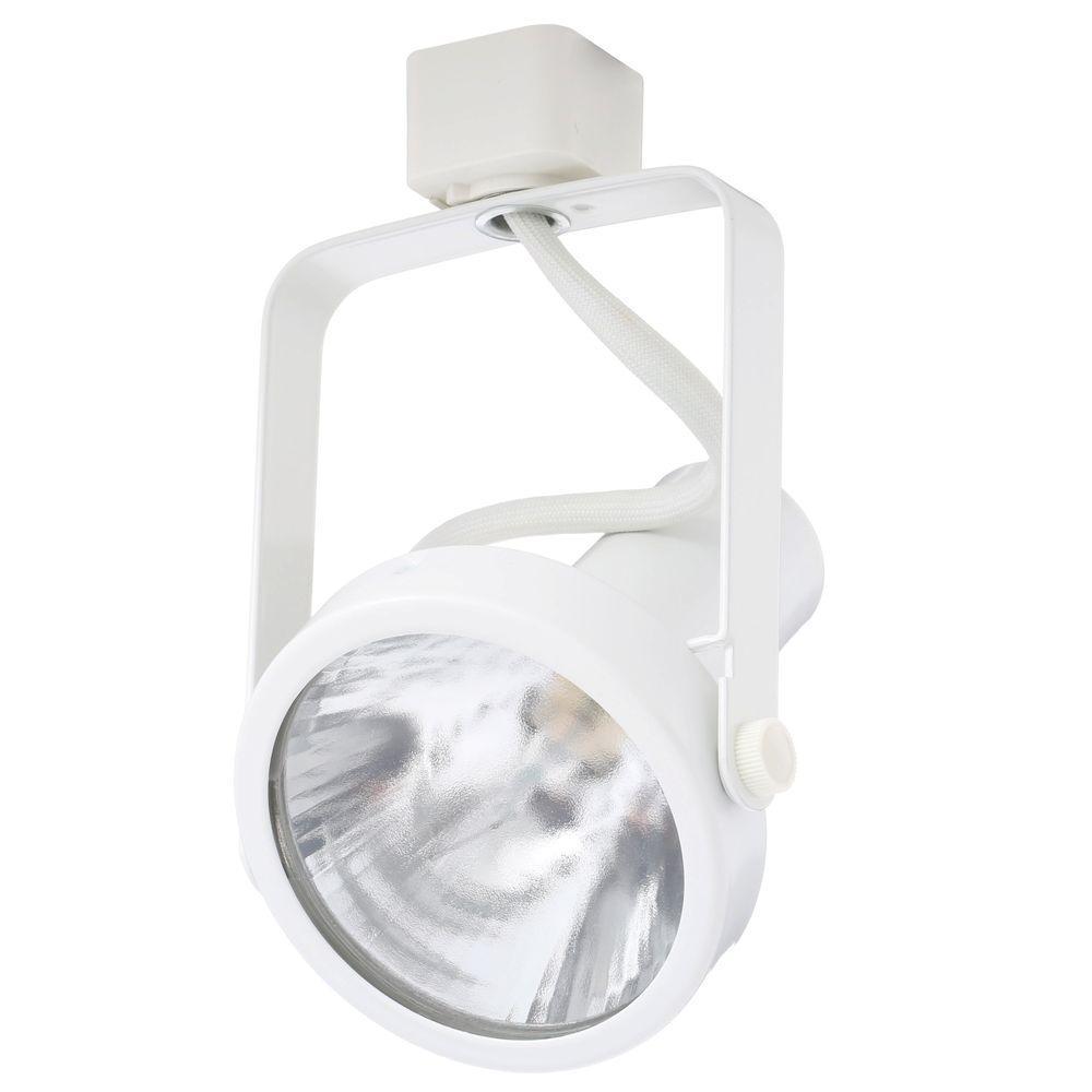 Trac-Lites White Open-Back Gimbal Light