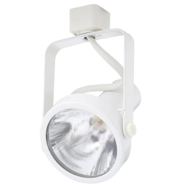 Trac-Lites White Open-Back Gimbal Light