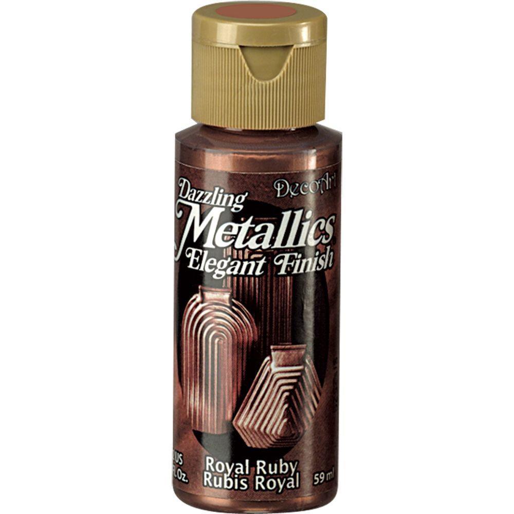 Decoart dazzling metallics 2 oz royal ruby acrylic paint for Wholesale acrylic craft paint