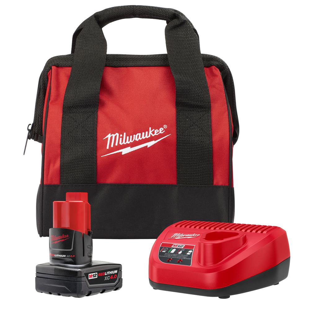 Milwaukee M12 12-Volt Lithium-Ion 4.0 Ah Battery and Charger Starter Kit with Tool Bag was $139.0 now $79.0 (43.0% off)