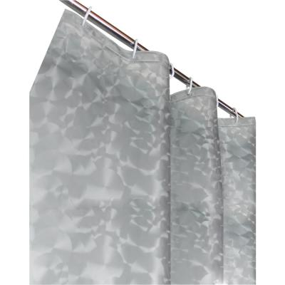 Sphere 72 in. Silver 3D Shower Curtain