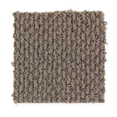 Carpet Sample - Untitled Thought - Color True Taupe Loop 8 in. x 8 in.