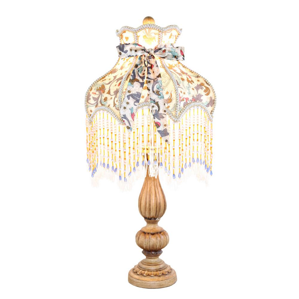 River Of Goods 26.5 in. H Multi-Colored Rustic Table Lamp...