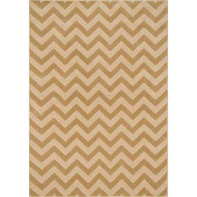 Shelton Lifestyle Collection Beige/Ivory 3 ft. 10 in. x 5 ft. 7 in. Area Rug