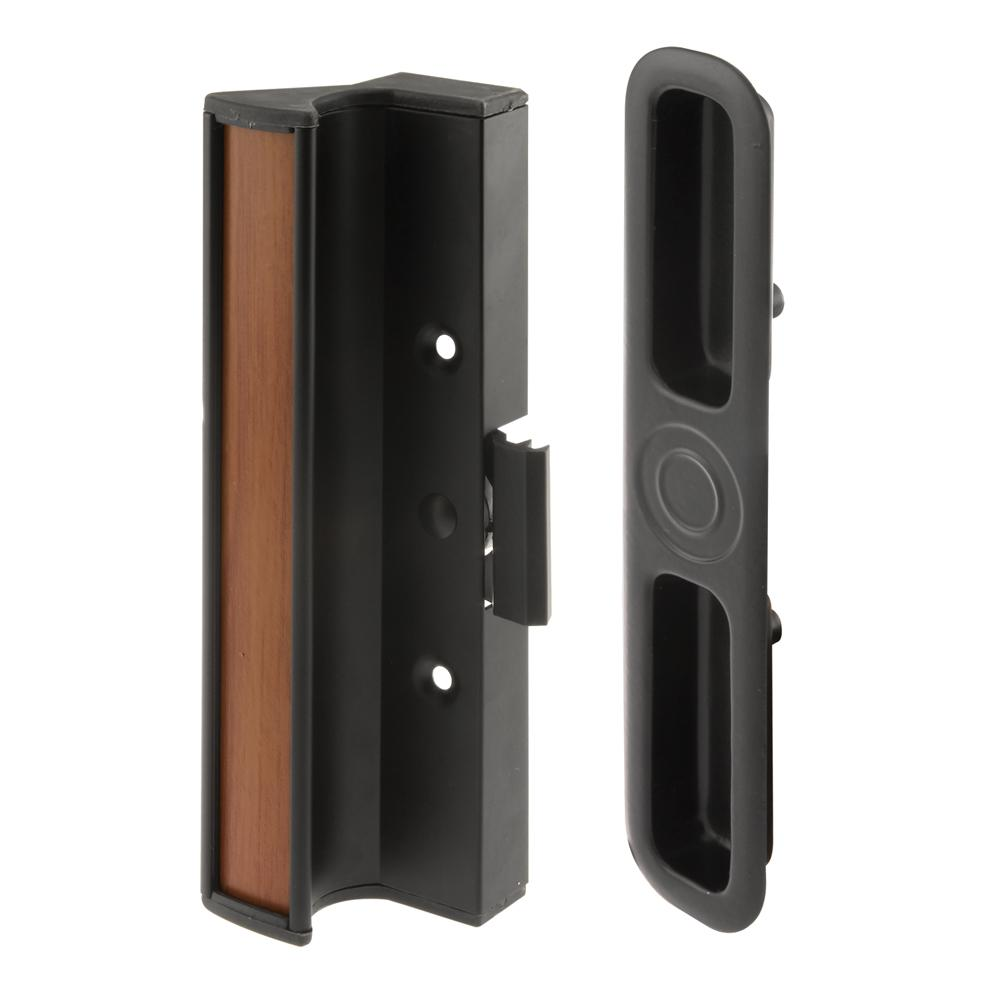 Prime-Line Surface Mounted Sliding Glass Door Handle with Clamp Type Latch