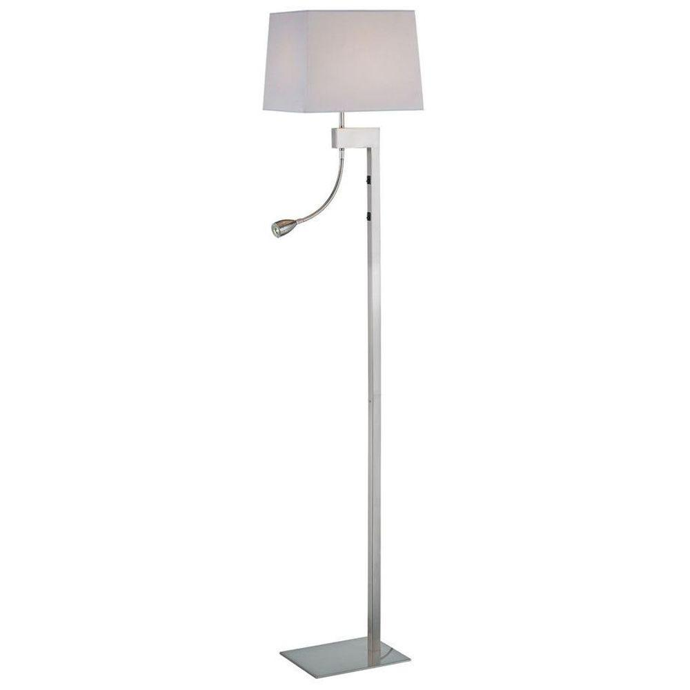 Illumine 62 in. Polished Steel Floor Lamp