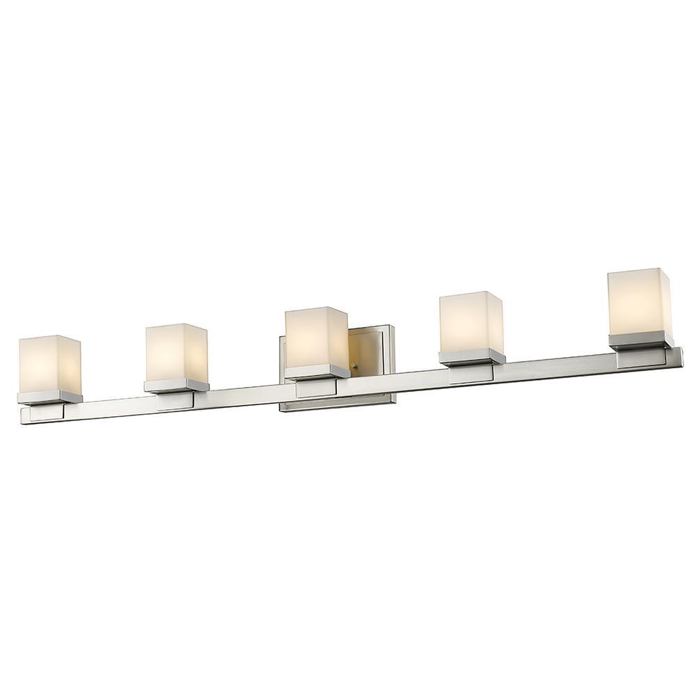 Filament Design 5 Light Brushed Nickel Led Bath Light Hd