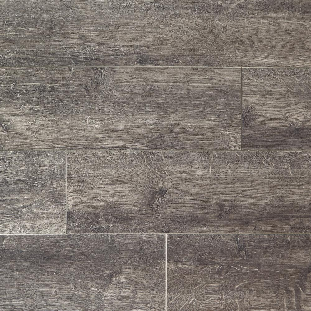 HomeDecoratorsCollection Home Decorators Collection Milwick Gray Oak 12 mm Thick x 6-1/16 in. Wide x 50-2/3 in. Length Laminate Flooring (17.07 sq. ft. / case), Medium