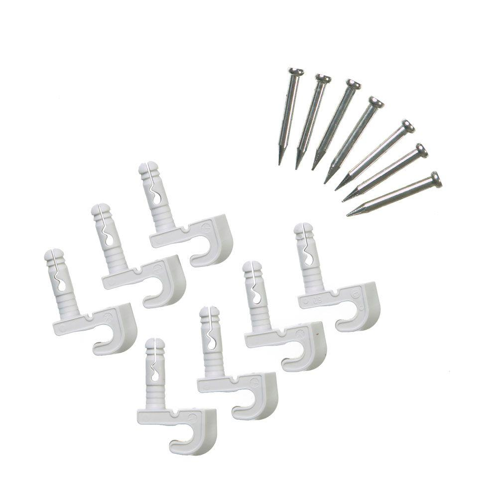 ClosetMaid Preloaded Back Wall Clips for Wire Shelving (7-Pack)