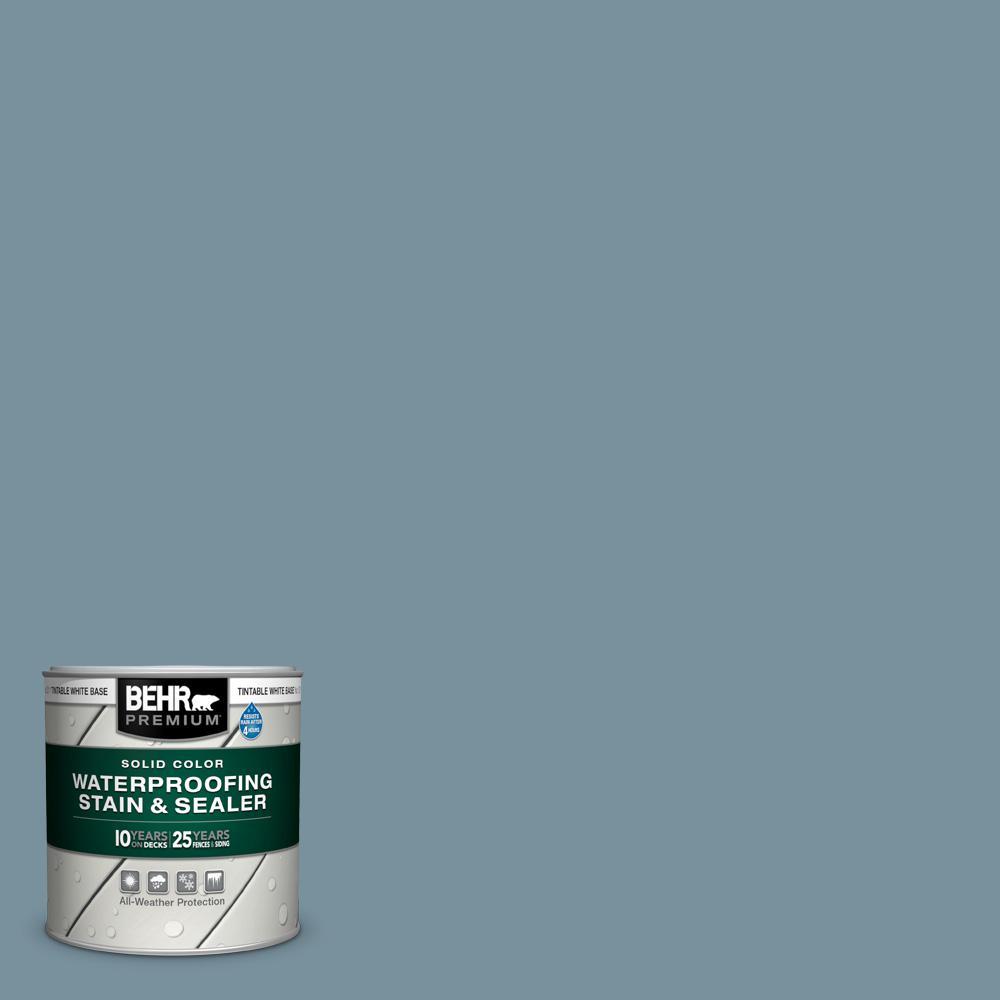 8 oz. #SC-113 Gettysburg Solid Color Waterproofing Exterior Wood Stain and Sealer Sample