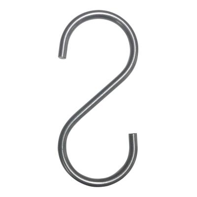 """Pipeline 5 in. L Anthracite Gray """"S"""" Hooks (Pack of 50)"""
