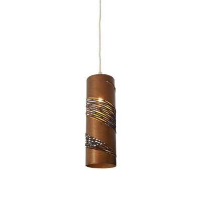 Flow 1-Light Hammered Ore Small Cylinder Mini Pendant