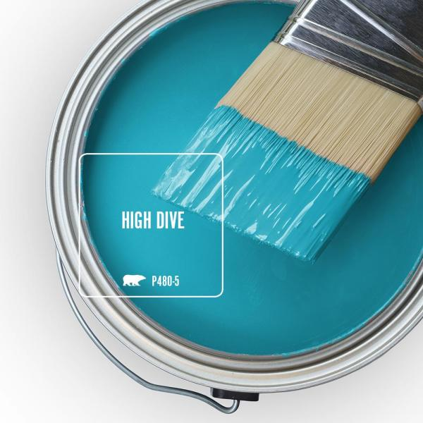 Reviews For Behr Premium Plus 1 Qt P480 5 High Dive Satin Enamel Low Odor Interior Paint And Primer In One 740004 The Home Depot