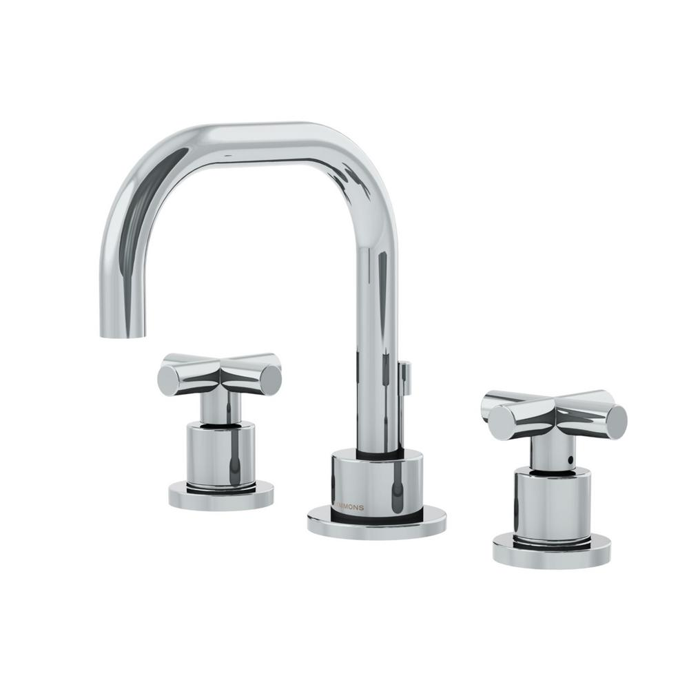 Symmons Dia 8 in. Widespread 2-Handle Bathroom Faucet with Cross ...