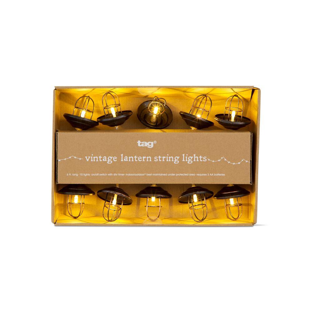 6 ft. 10-Light Vintage Lantern LED String Lights