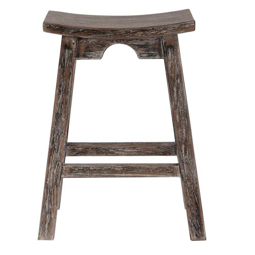 Osp Designs 26 In Grey Rustic Black Saddle Stool Sad67 Grb The