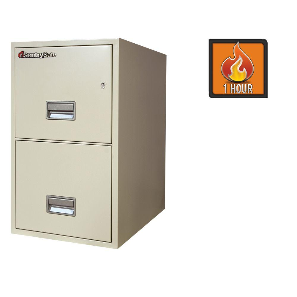 SentrySafe 2-Drawer 25 in. Deep Letter Vertical Fire File Safe in White Glove Delivery
