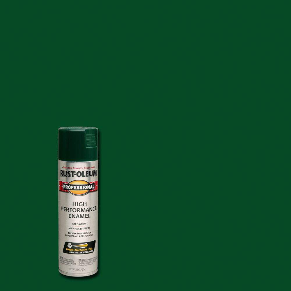 Rust-Oleum Professional 15 oz. High Performance Enamel Gloss Hunter Green Spray Paint