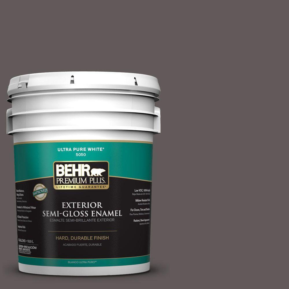 5-gal. #T14-10 Coffee Bar Semi-Gloss Enamel Exterior Paint