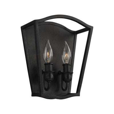 Yarmouth 2-Light Antique Forged Iron Sconce
