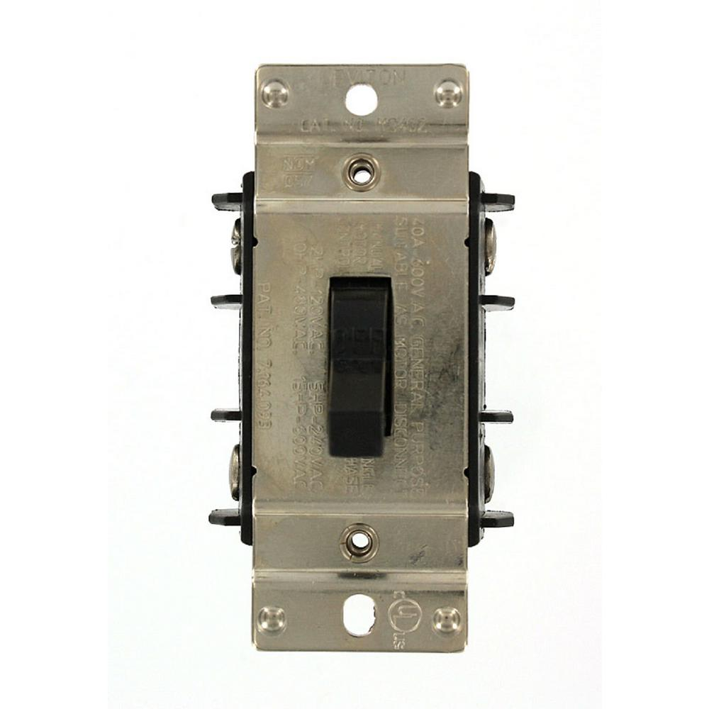 Single Phase Switch : Leviton amp volt industrial grade double pole