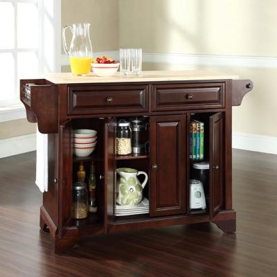 Lafayette Mahogany Kitchen Island with Wood Top