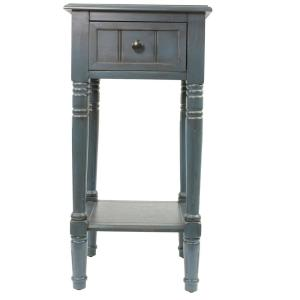 Decor Therapy Simplify Antique Artic Blue End Table Fr1576