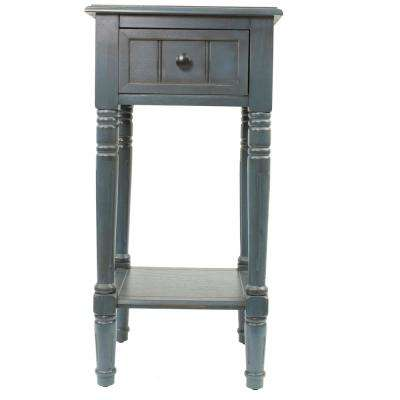 Simplify Antique Navy 1-Drawer End Table