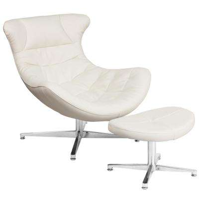 Melrose White Faux Leather Side Chair