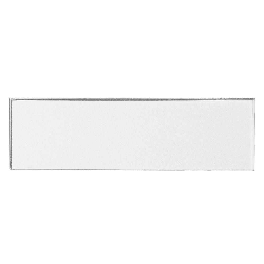 3 in. x 12 in. Secret Dimensions White Glass Glossy Peel