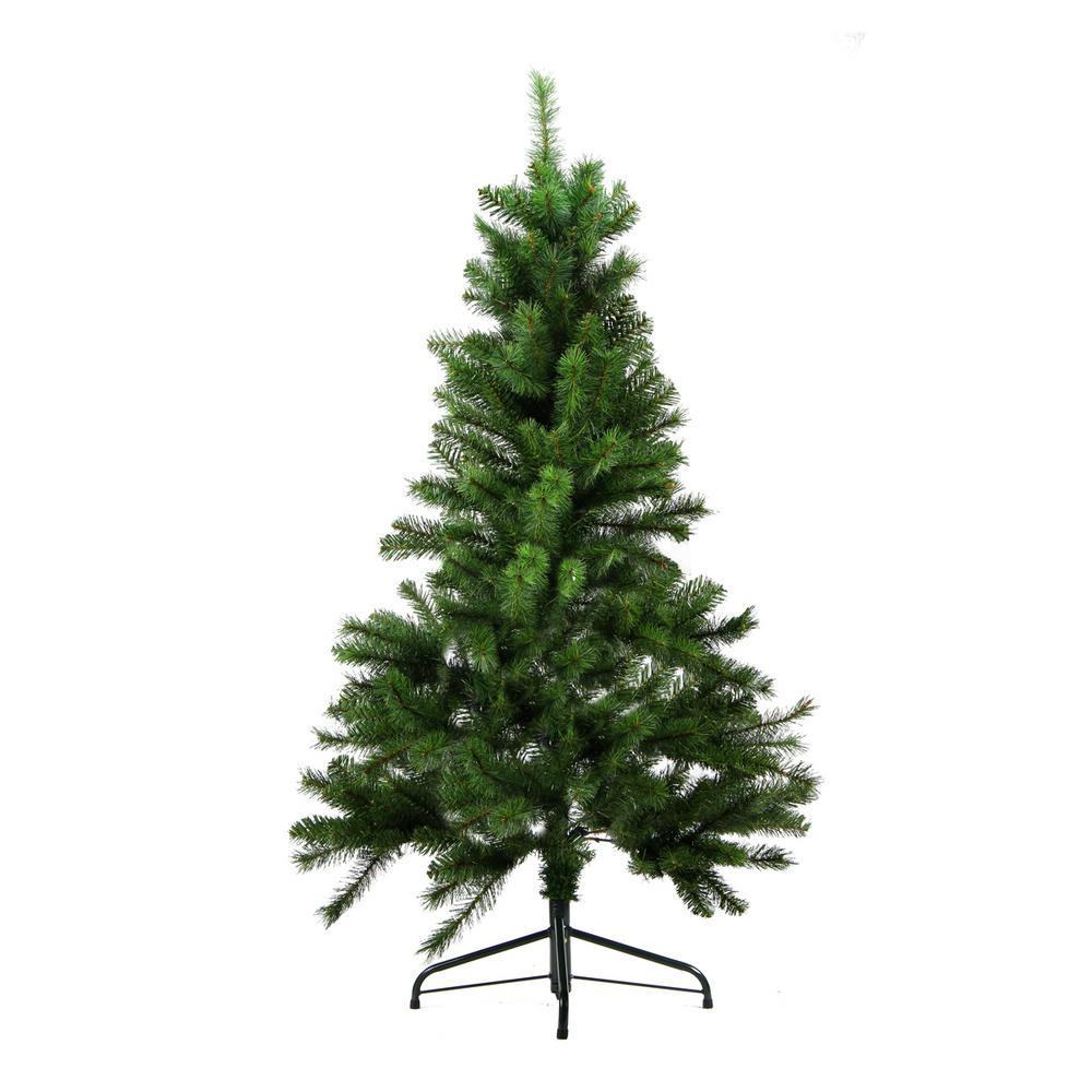 5 Ft Artificial Christmas Tree: Northlight 4.5 Ft. X 35 In. Unlit Medium Mixed Pine