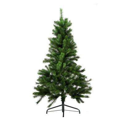 4.5 ft. x 35 in. Unlit Medium Mixed Pine Artificial Christmas Tree