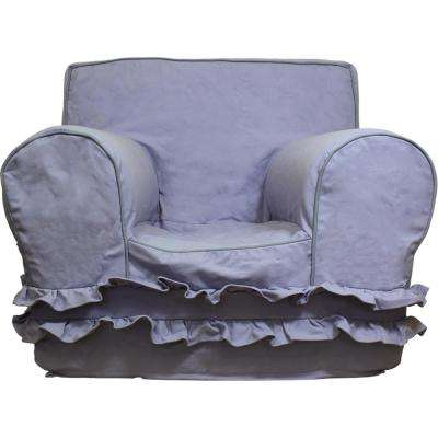 Kids Regular Size Foam Chair with Lavender Ruffle Cover