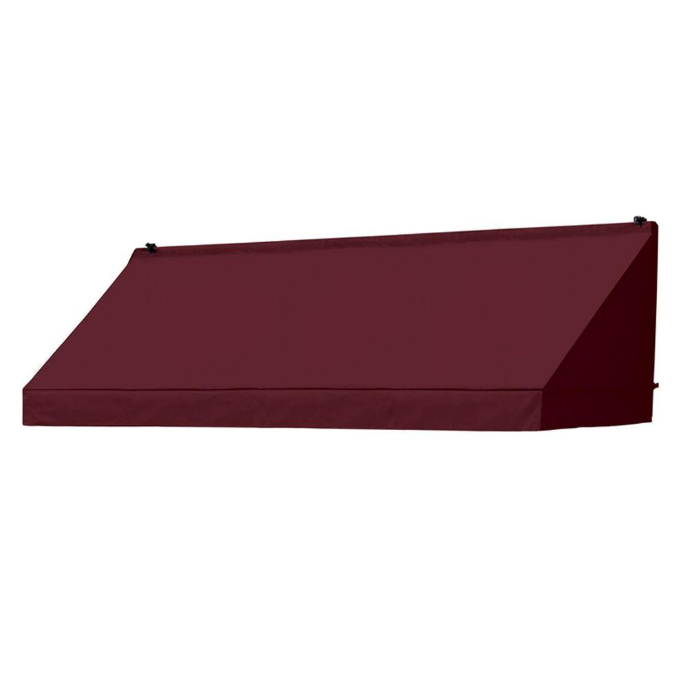8 ft. Classic Manually Retractable Awning (26.5 in. Projection) in Burgundy