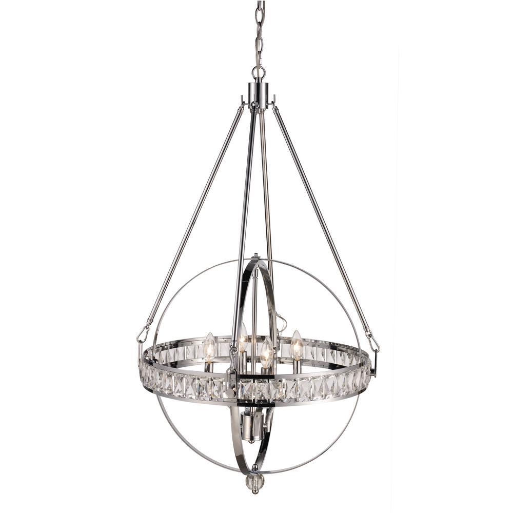 bel air lighting elan 4-light polished chrome pendant-70754 pc
