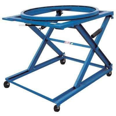 1,500 lb. Adjustable 3 Position Pallets Stand with Carousel with Casters