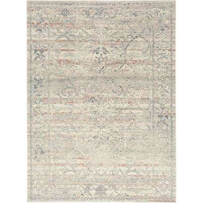 Shabby Chic Pastel Corrina Cream 7 ft. 10 in. x 10 ft. 2 in. Indoor Area Rug
