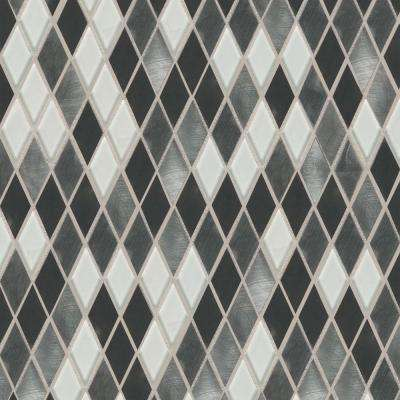 Fashion Accents Nickel Blend 12 in. x 12 in. Glass and Stone Blend Mosaic Wall Tile (1 sq. ft. / piece)