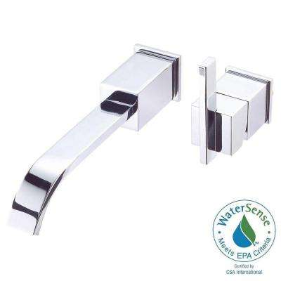 Sirius Single-Handle Wall-Mount Lavatory Faucet Trim Only in Chrome