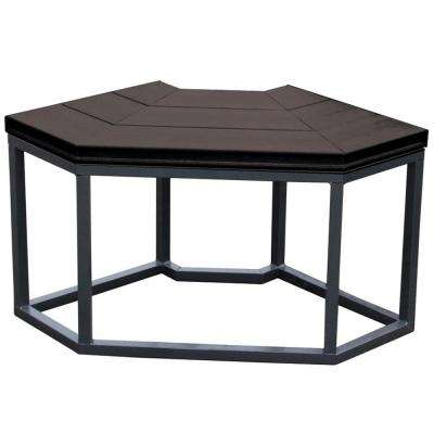 16.5 in. x 34.25 in. x 35.5 in. Corner Spa Bench in Smoke