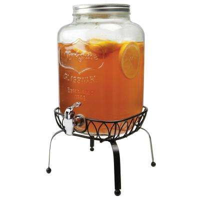 Yorkshire 2 Gal. Beverage Dispenser on Metal Stand