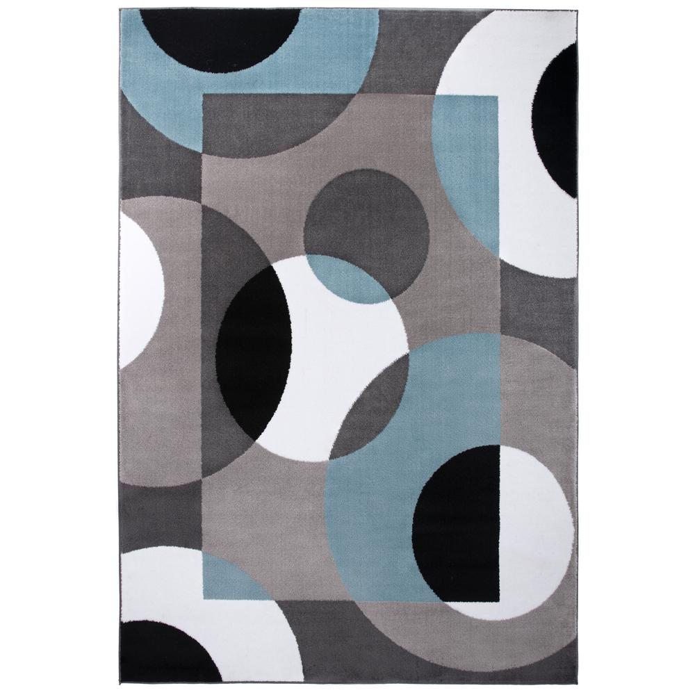 World Rug Gallery Florida Turquoise Area Rug Reviews: World Rug Gallery Contemporary Circles Blue 7 Ft. 10 In. X