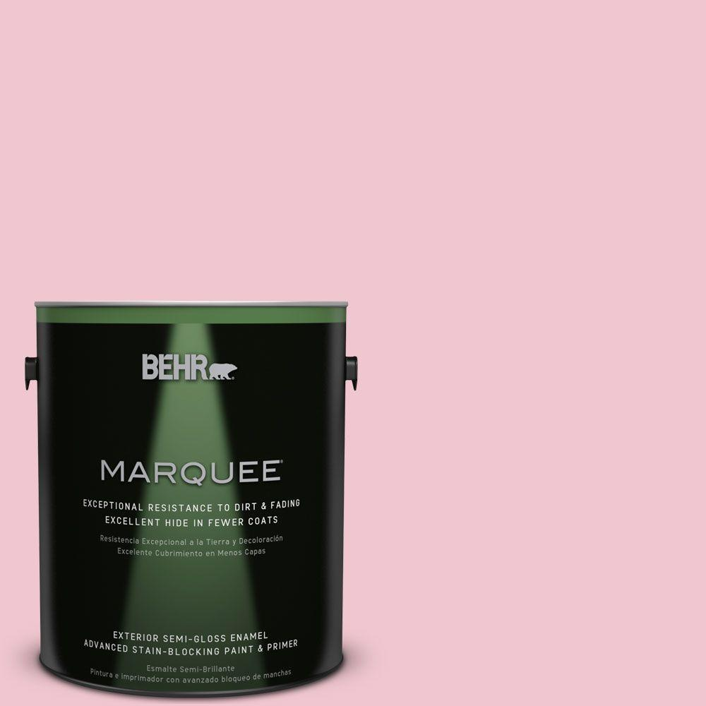 BEHR MARQUEE 1-gal. #P140-2 Sweetheart Semi-Gloss Enamel Exterior Paint
