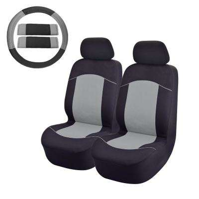 47 in. x 23 in. x 1 in.Front Car Seat Covers For SUV Truck or Van in Grey (8-Piece)