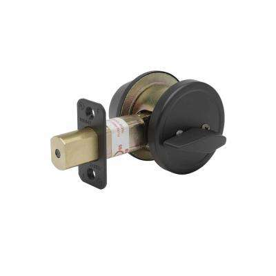 Single Cylinder Dark Bronze Grade 2 Deadbolt