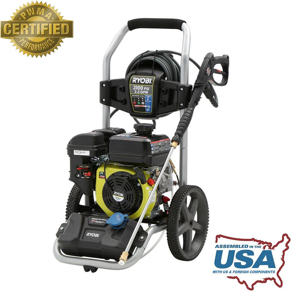 Ryobi 3,100-PSI 2.5-GPM 212cc Gas Pressure Washer with Idle Down