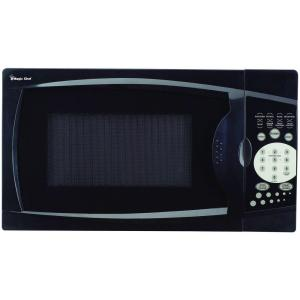 Magic Chef 0 7 Cu Ft Countertop Microwave In Black Mcm770b1 The Home Depot