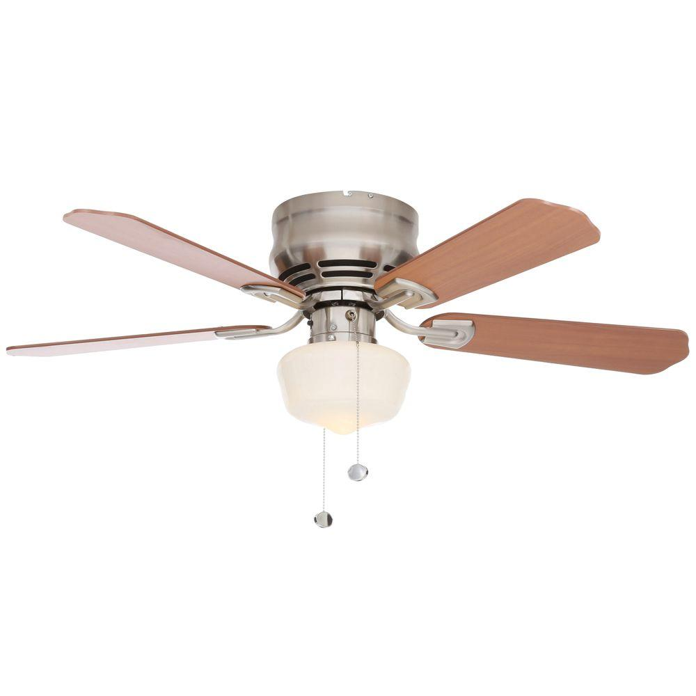 Middleton 42 in led indoor brushed nickel ceiling fan with light led indoor brushed nickel ceiling fan with light kit ue42v ni shb the home depot mozeypictures Image collections