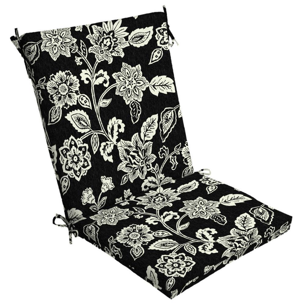 20 x 44 Ashland Jacobean High Back Outdoor Dining Chair Cushion