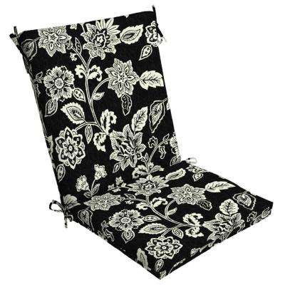 Charming Ashland Jacobean Outdoor High Back Dining Chair Cushion